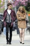 Emma Stone bundled up as she walked with her boyfriend Andrew Garfield in NYC.