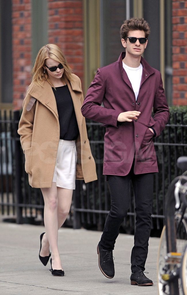 Emma Stone and Andrew Garfield took a stroll through an NYC neighborhood together.