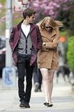 Andrew Garfield and Emma Stone both wore coats in NYC as they walked down the street.