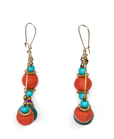 This pair lends that eclectic-global vibe, with just a dose of glam.  Mango Ethnic Style Loop Earrings ($15)