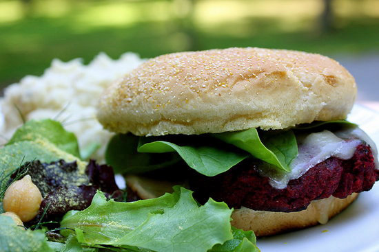 Vegetarian (or Vegan) Beet Burgers