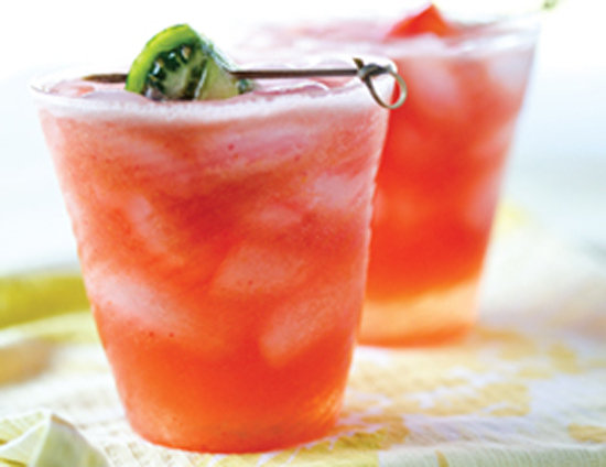 The unexpected combo of fruits and fizzy goodness from ginger in this tomato peach spritzer packs a big punch of flavor everyone will love.