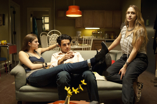 Allison Williams, Chris Abbott, and Jemima Kirke in Girls.