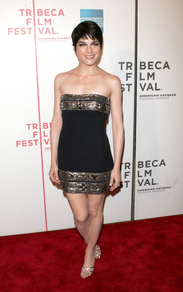 Selma Blair wore a short black dress to the Purple Violets red carpet in April 2007.