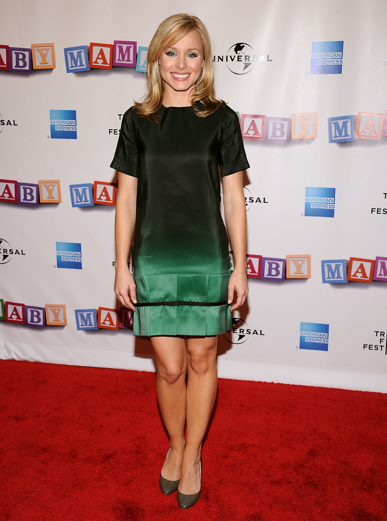 Kristen Bell looked glam in a gradient number at the Baby Mama premiere during the Tribeca Film Festival in April 2008.
