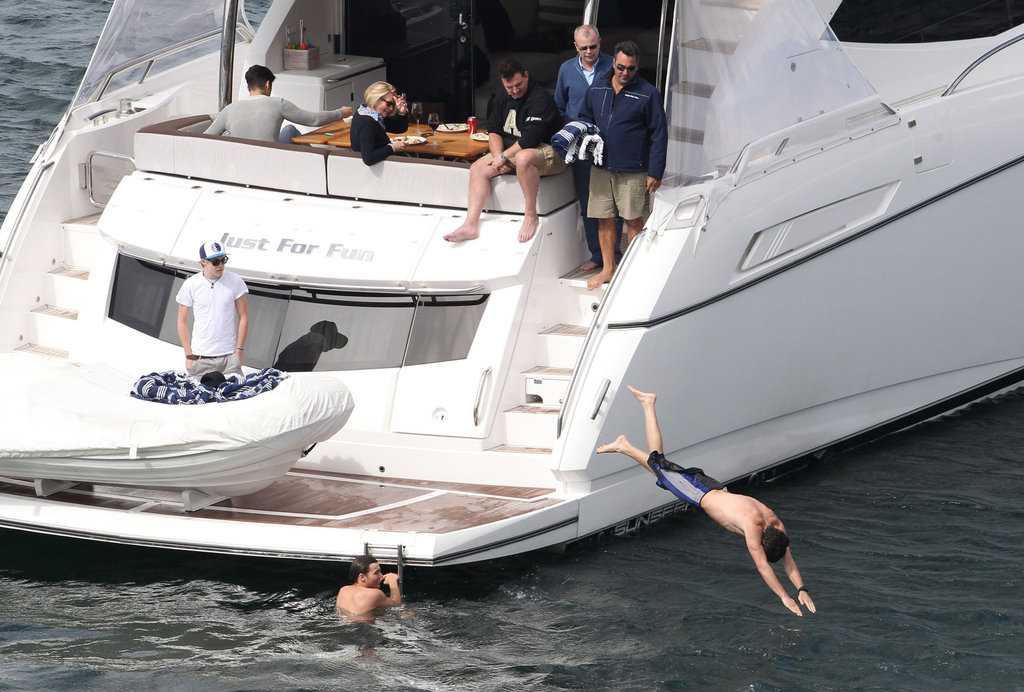 One Direction Celebrates SNL Success With a Shirtless Swim