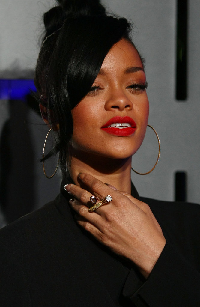 Rihanna wore an intricate ring to the Battleship premiere in Sydney.