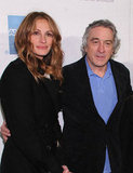 Producer Julia Roberts got together with Robert De Niro at the premiere of Jesus Henry Christ in April 2011.