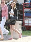 Emma Watson Relaxes Between Her Bling Ring Scenes