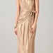 This floor-length gold maxi has a refined Grecian-inspired vibe that feels perfect for a Summer evening affair.