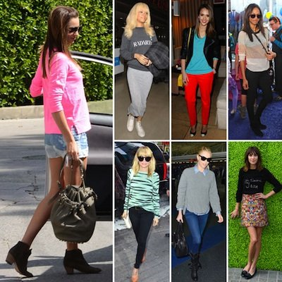 Celebrities Wearing Sweatshirts Spring 2012