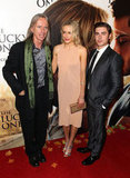 Director Scott Hicks got together with Taylor Schilling and Zac Efron at the premiere for The Lucky One in Melbourne.