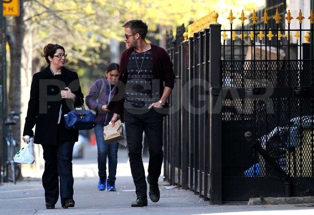 Ryan Gosling out and about for lunch in NYC.