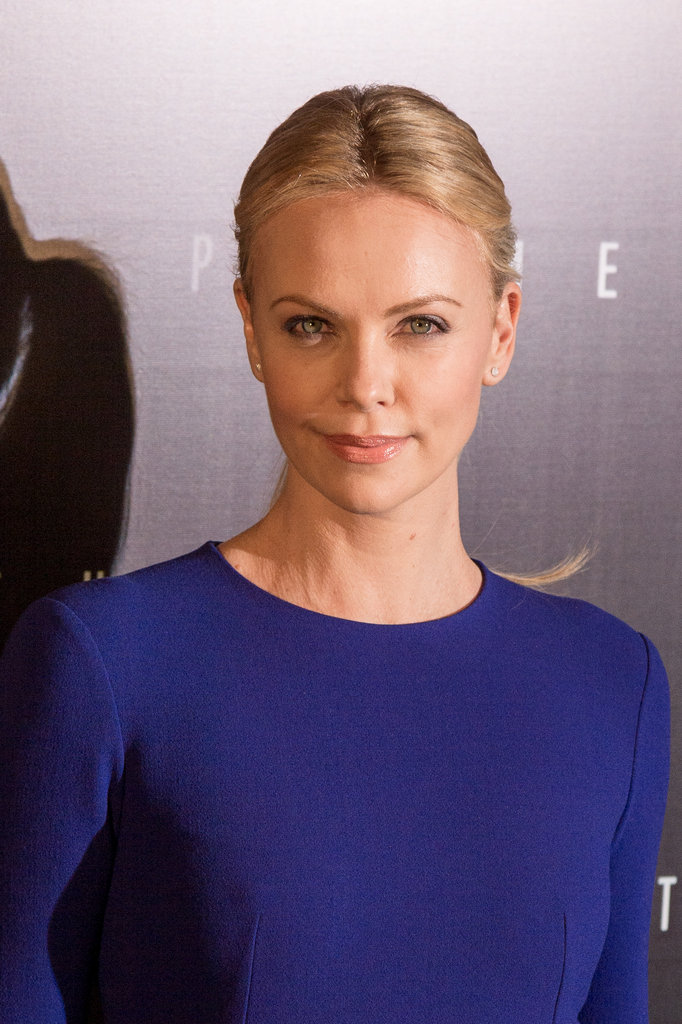 Charlize Theron posed at the Prometheus premiere in Paris.