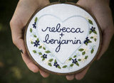 Embroidered Ring-Bearer Hoop ($100)