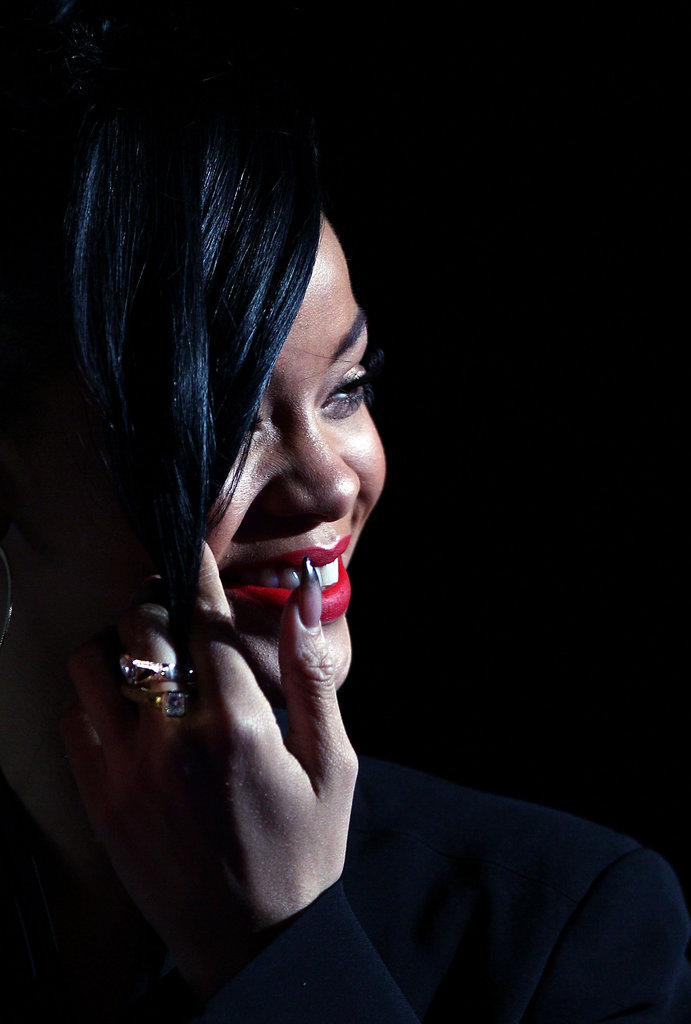 Battleship Beauty: Rihanna Rocks Red and Brooklyn Plays It Straight