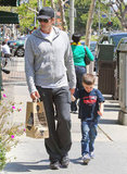 Tom Brady and Jack Moynahan took a walk in Brentwood after stopping by Whole Foods Market.