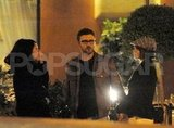 Justin Timberlake and Jessica Biel relaxed after a romantic meal while vacationing in Europe together.