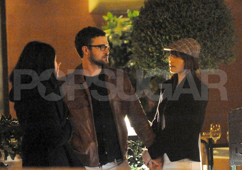 Justin Timberlake and Jessica Biel hung out together while vacationing in Europe.