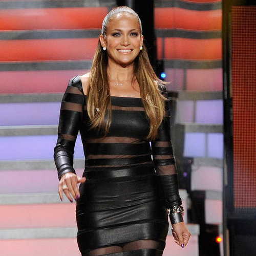 Jennifer Lopez Sexy Black Dress American Idol Pictures