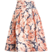The striking colors and bold floral print let this skirt speak for itself.
