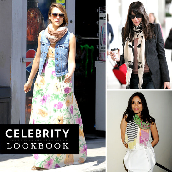 Celebrities Wearing Printed Scarves