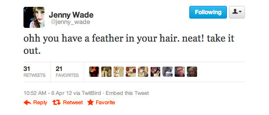 Jenny Wade shared their thoughts on the dying feather trend.