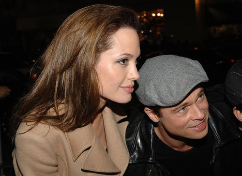 Brad Pitt and Angelina Jolie arrived at the LA premiere of Beowulf in November 2007.