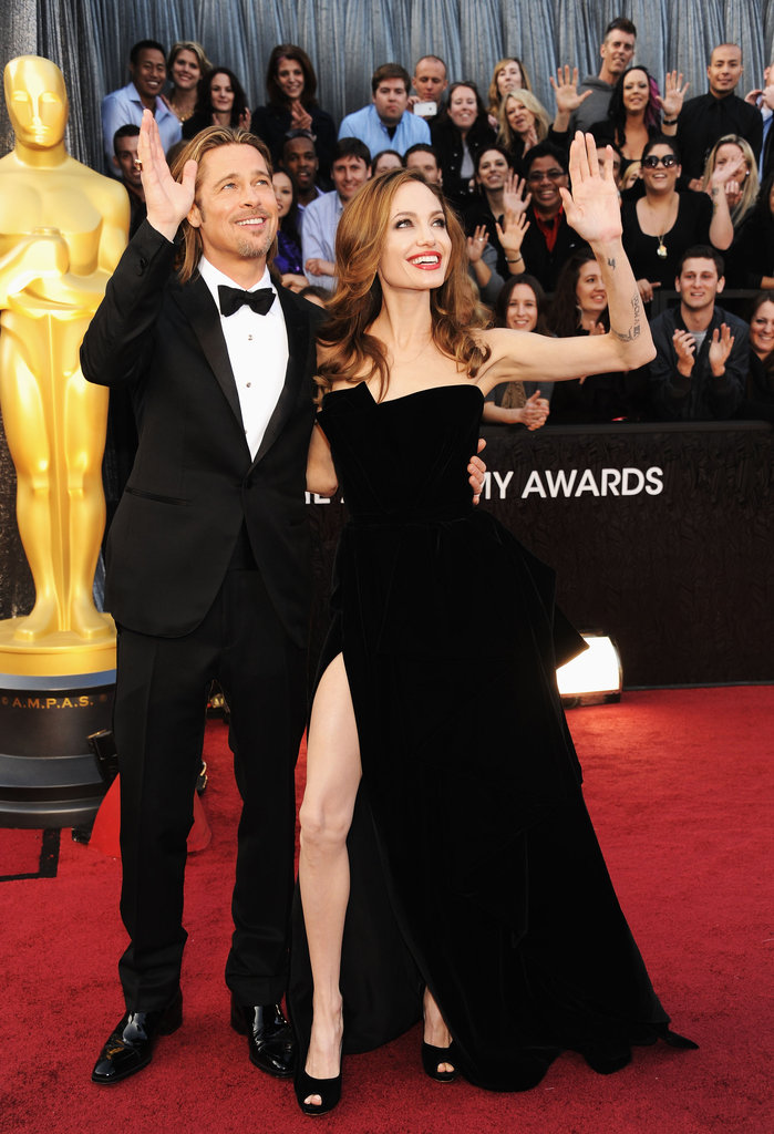 Who could forget when Angelina Jolie stepped out in that sexy high slit dress at the 2012 Oscars?