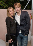 Emma Roberts and Chord Overstreet posed together at the Condé Nast Traveler Hot List Party in LA.