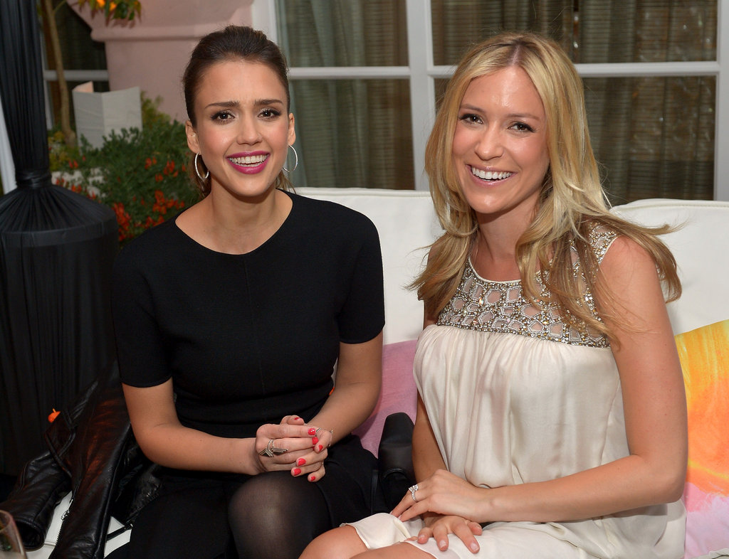 Jessica Alba got together with a pregnant Kristin Cavallari at the Condé Nast Traveler Hot List Party in LA.