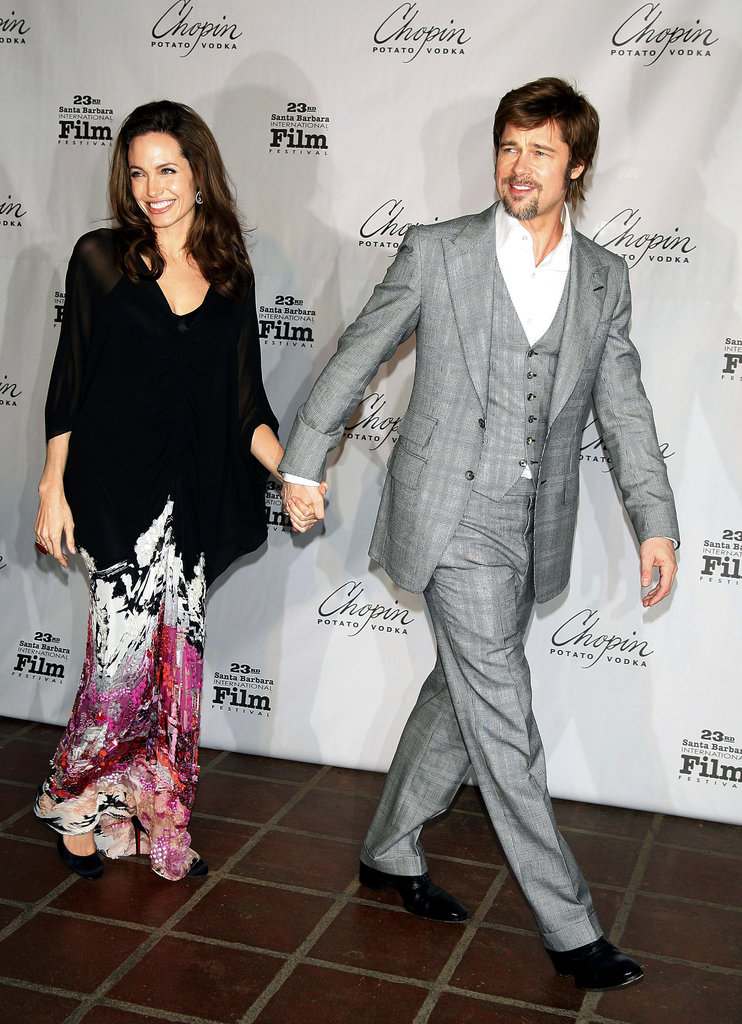 Brad Pitt und Angelina Jolie beim Santa Barbara International Film Festival 2008.