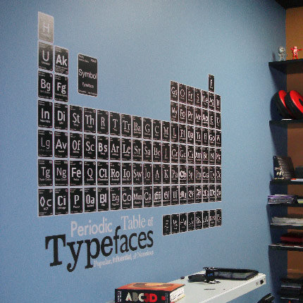 Periodic Table of Typefaces ($49)