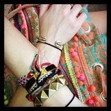 Check out assistant editor Hannah Weil's Coachella wrist candy.