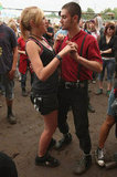 A couple danced during the International Woodstock Festival in Kostrzyn, Poland.