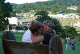 This pair went in for the smooch at the Big Chill Festival near Ledbury, Herefordshire, England.