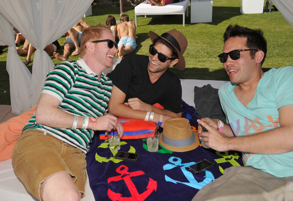 Jesse Tyler Ferguson and his boyfriend Justin Mikita lounged poolside at Lacoste's party in 2012.