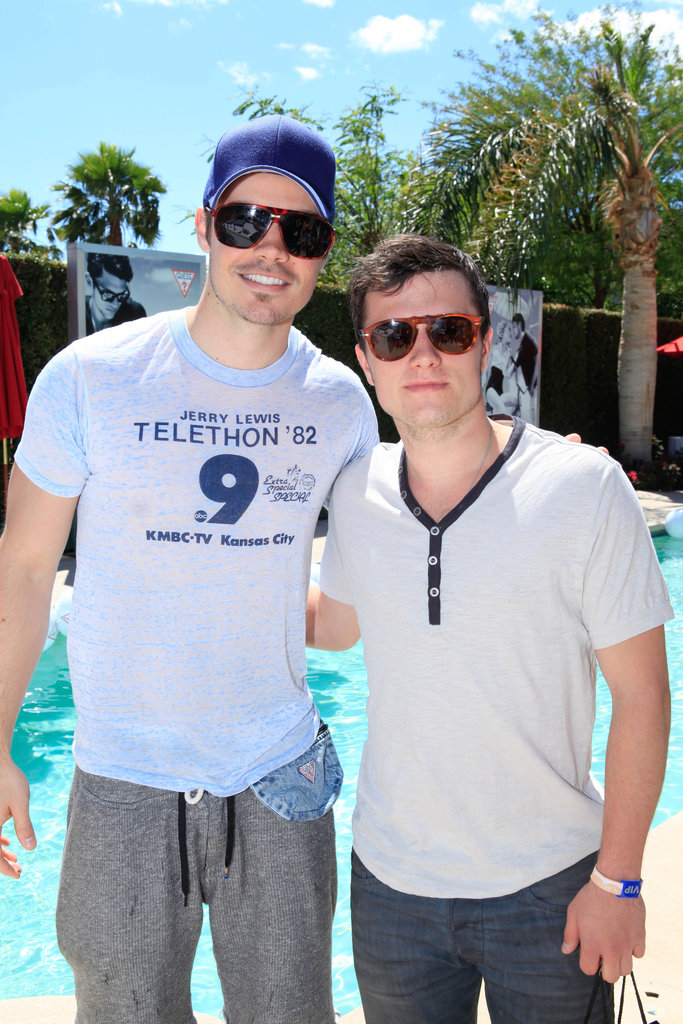 Josh Henderson and Josh Hutcherson got together at the Guess party on Saturday afternoon.