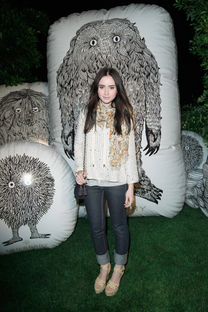 Lily Collins stepped out to support Mulberry at their Coachella party in 2012.