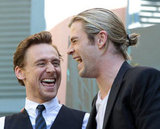 Chris Hemsworth and Tom Hiddleston laughed it up.