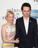 Michelle Williams and Luke Kirby posed together at the Tribeca Film Festival.
