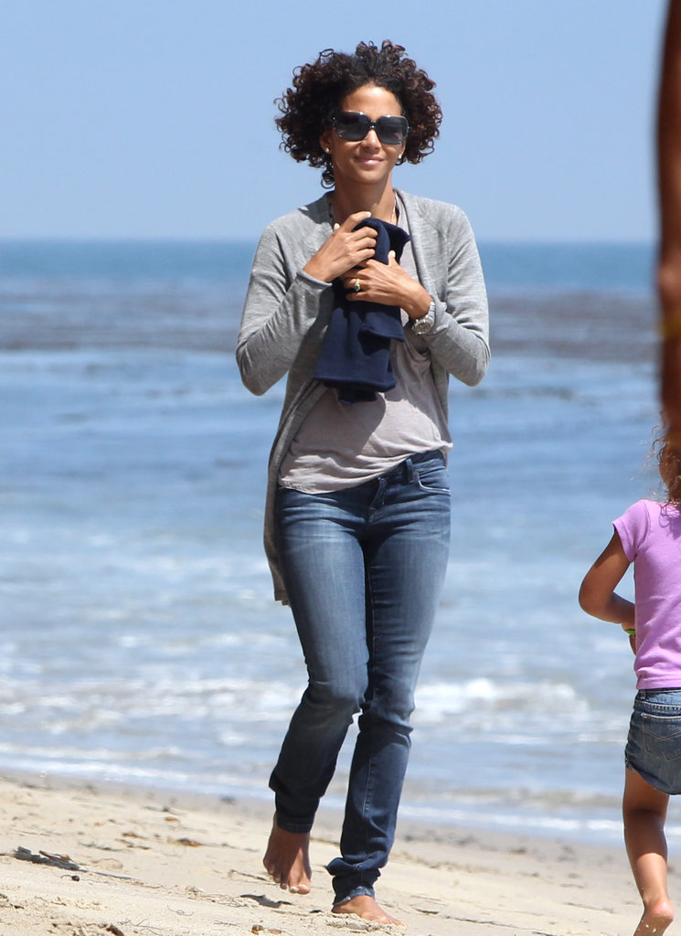Halle Berry and Nahla Hit the Beach in Malibu