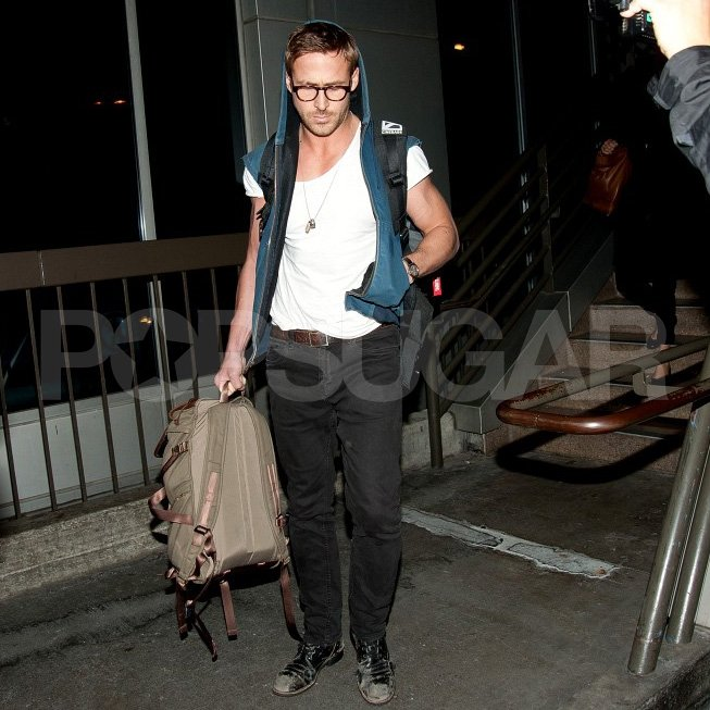 Ryan Gosling touched down in LA.