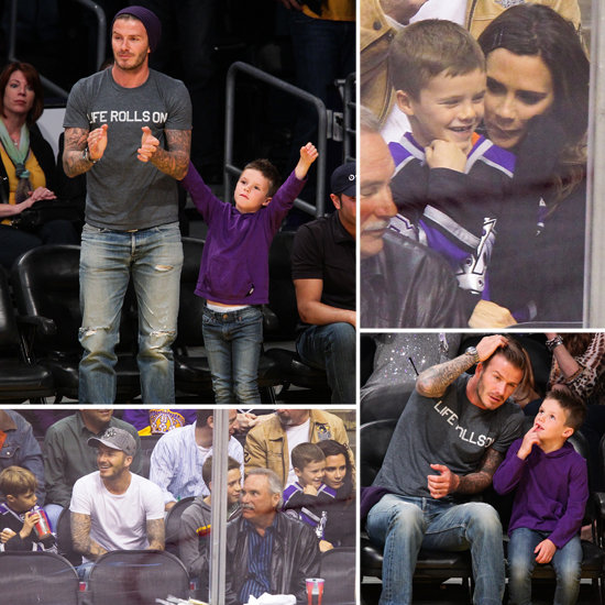 The Beckhams Wrap up a Sporting Weekend With Soccer, Basketball, and Hockey