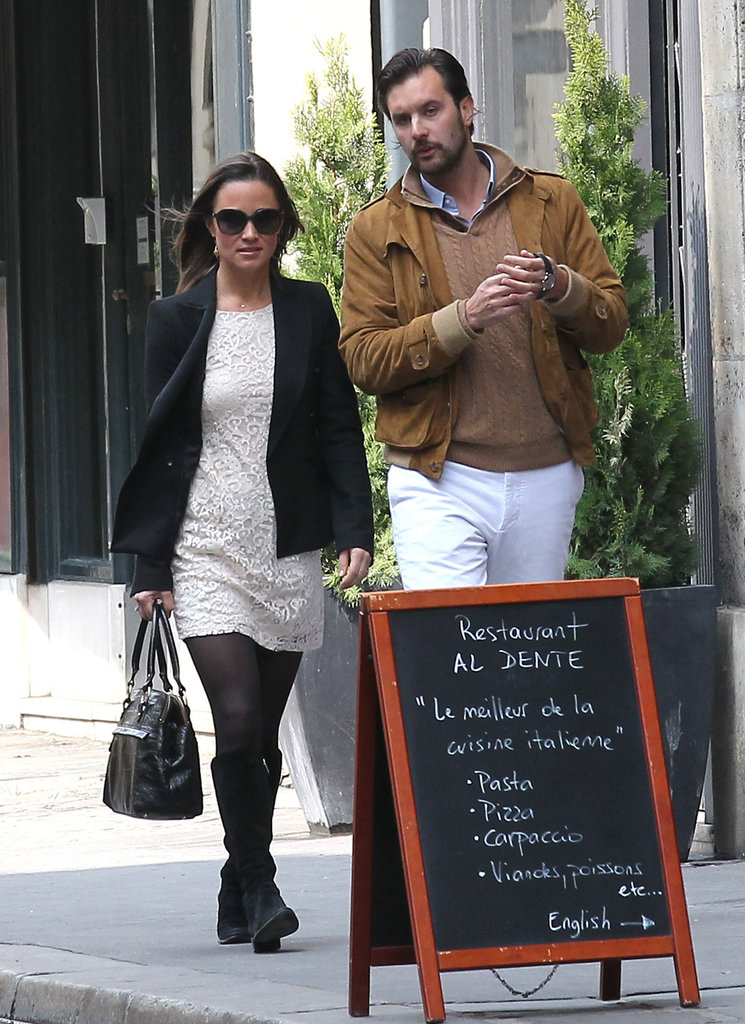 Pippa Middleton and Arthur de Soultrait in Paris.