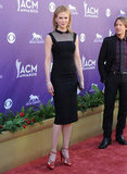 Nicole Kidman looked svelte in a pert L'Wren Scott dress with a sheer top.