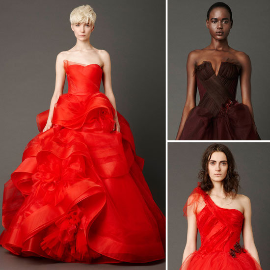 Vera Wang's Spring 2013 Bridal Collection Is Shown in Rich Reds