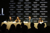Director Len Wiseman joined Jessica Biel, Kate Beckinsale, and Colin Farrell to talk about Total Recall in Cancun, Mexico.