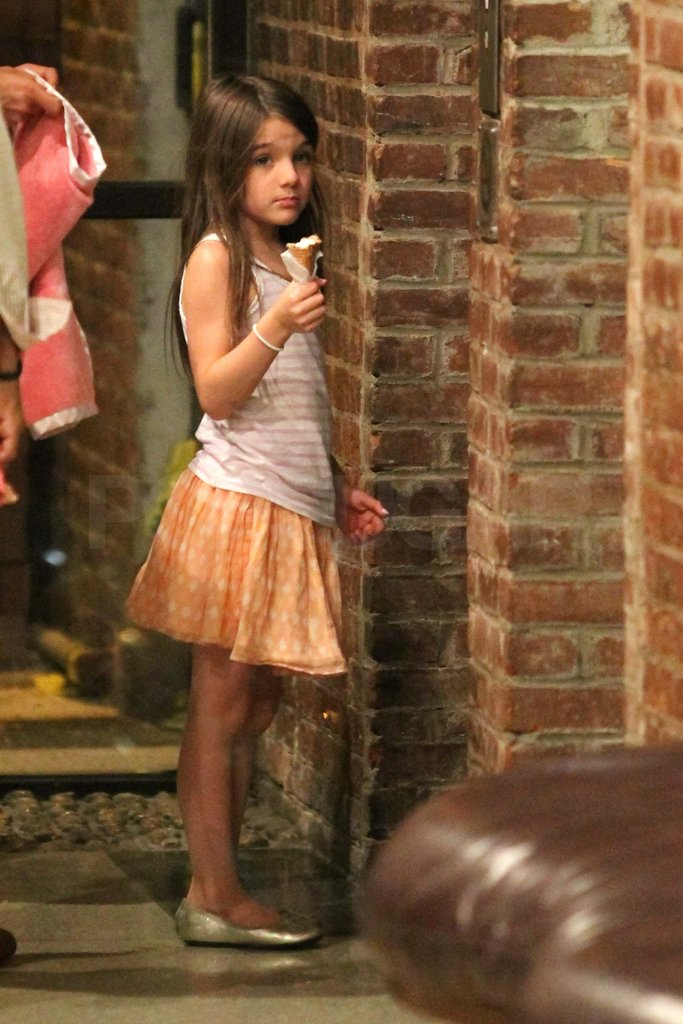 Katie Holmes and Suri Cruise Grab a Pre-Birthday Treat