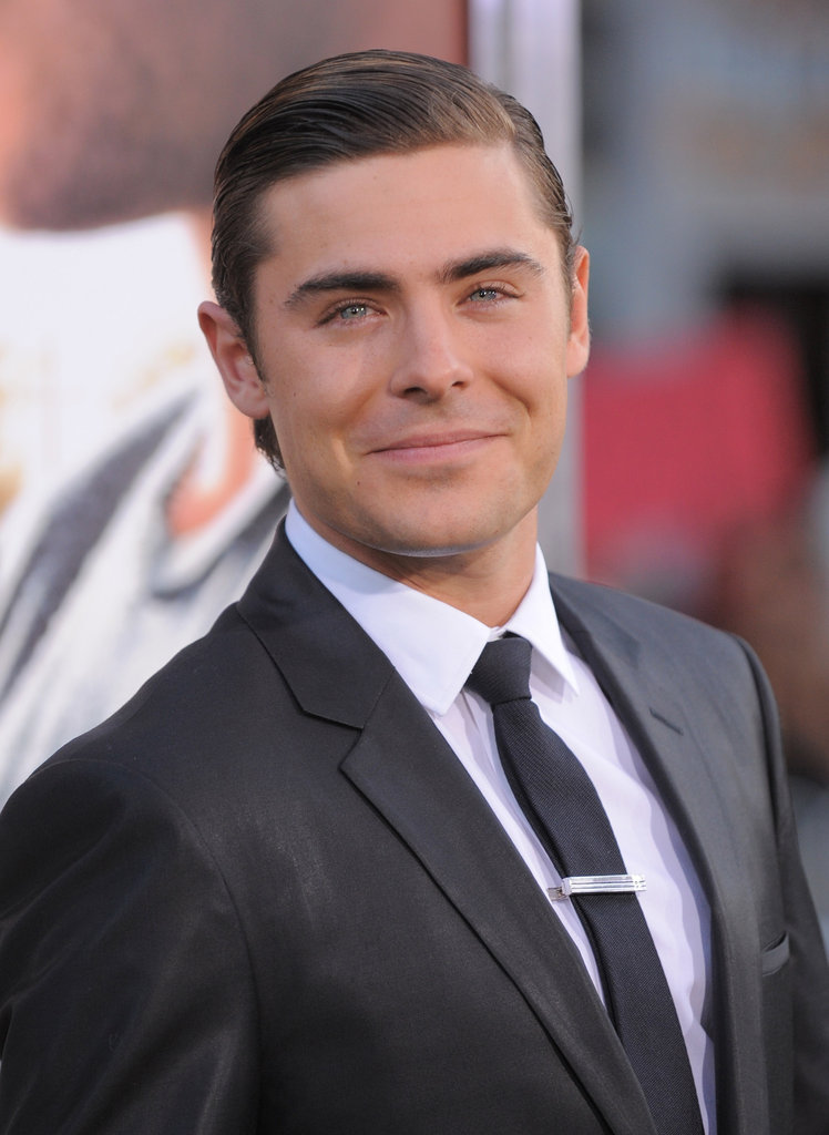 Zac Efron wore a suit to the premiere for The Lucky One in LA.